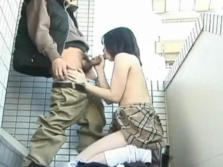 Youthful learner Seire Mochizuki outdoor blow the whistle