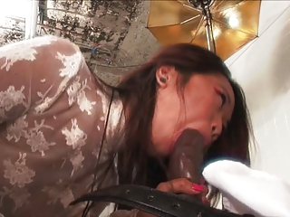 Tiny Asian Slut Gets Black Cock
