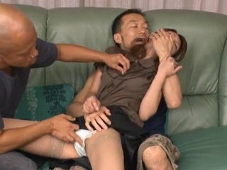 Busty young group cock suck