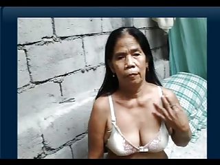 asian granny shows her tits and ass